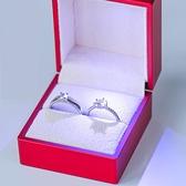 情侶戒指 結婚戒指仿真一對婚禮現場用婚戒情侶對戒活口可調節求婚假鉆戒子 WW