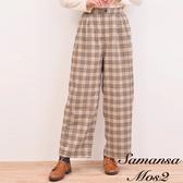 「 Hot item 」 經典復古格紋寬褲 (提醒 SM2僅單一尺寸) - Sm2