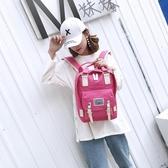 後背包後背包女帆布背包電腦包休閒防水運動后背包男旅行包青年學生書包