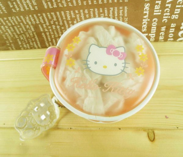 【震撼精品百貨】Hello Kitty 凱蒂貓-圓零錢包-粉花