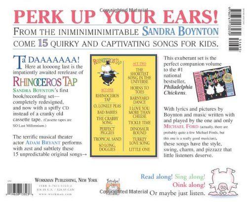 【部落格主強力推薦】Rhinoceros Tap /英文繪本+CD《作者: Sandra Boynton 》