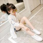 女童洋氣中長款防曬衣夏裝2019新款韓版兒童中大童薄款透氣防曬服