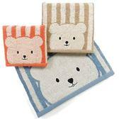 條紋彩色熊浴巾(60*137cm)【愛買】