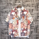 日系夏季簡約半短袖花襯衫男夏威夷寬鬆ins潮流沙灘海邊度假襯衣【快速出貨】