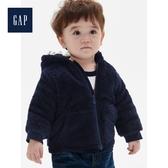 Gap男嬰兒人造羊毛絨連帽鋪棉外套515341-海軍藍色