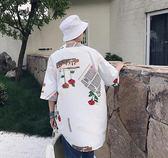 新款男士短袖襯衫休閒百搭打底衫韓版潮流寬鬆半袖上衣     時尚教主