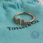 BRAND楓月 TIFFANY&CO. 蒂芬妮 T WIRE 鑽石戒指 玫瑰金 K18 AU750 2.4G T字