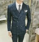 找到自己品牌 韓國男 經典格紋 修身西裝 小西裝 西裝外套 單件外套