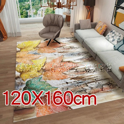 地毯地墊【120X160cm】花卉印花水晶絨地毯防滑地墊榻榻米墊爬行墊「微笑城堡」