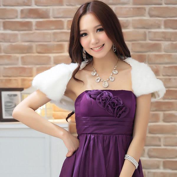 俏麗時尚皮草質感禮服搭配披肩小外套-美之札