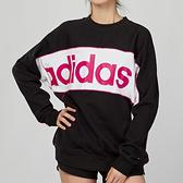 Adidas Originals SWEATSHIRT女款 黑白粉 休閒 圓領 長袖 大學T FH7563