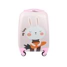行李箱 自然醒兒童卡通拉桿箱萬向輪行李箱男可坐可騎公主女寶寶旅行箱18 莎拉嘿幼
