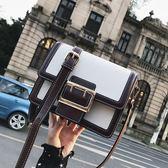 包包女鏈條小方包撞色時尚百搭單肩斜背包側背包