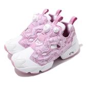 Reebok 休閒鞋 Instapump Fury OG 白 粉紅 女鞋 滿版圖騰設計 運動鞋 【ACS】 EH0971