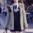 毛呢外套-純色學院風顯瘦短款女連帽大衣3色72at15[巴黎精品]