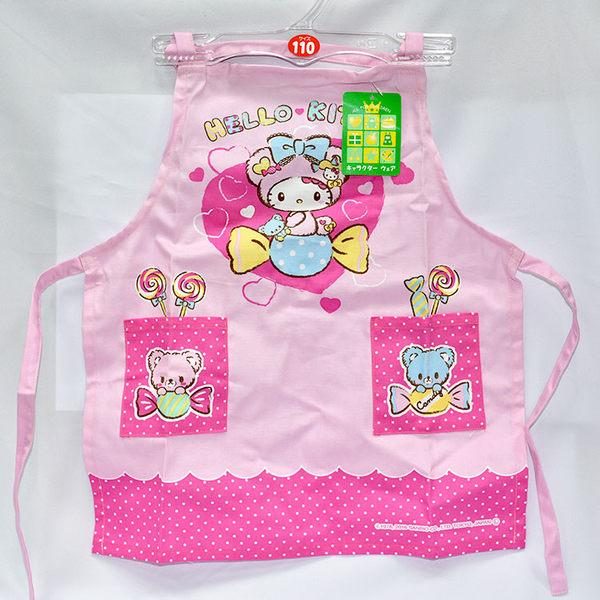 Hello Kitty 兒童工作圍裙 工作服 日本製正版商品 110