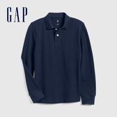 Gap男童簡約風格長袖POLO衫537946-靛藍色