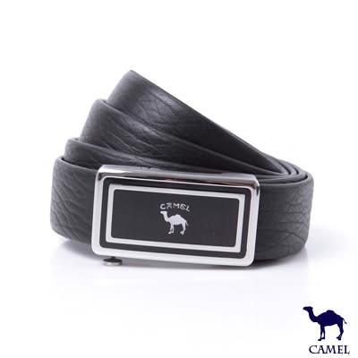 CAMEL駱駝 - 經典款式自動滑扣頭層牛皮皮帶