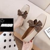 一腳蹬豆豆鞋女平底鞋溫柔晚晚單鞋孕婦奶奶鞋夏樂福鞋品牌【邦邦男裝】