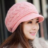 走走去旅行99750【IB200】韓版女款帽子 針織帽 毛線帽 可愛絨線保暖毛線帽 4色