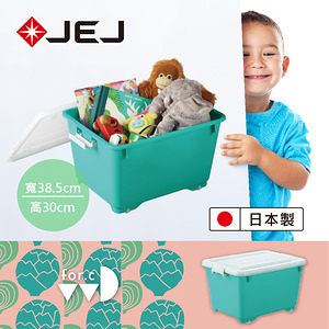 日本JEJ for.c vivid繽紛整理箱深50 藍綠色3入