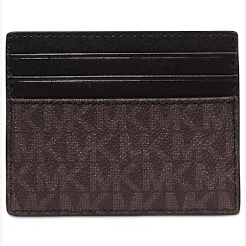 Michael Kors- 徽標印花信用卡包