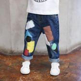 春秋裝2018新款2男童牛仔褲LJ4867『黑色妹妹』
