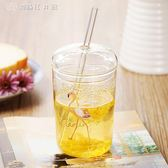 火烈鳥玻璃杯帶吸管水杯成人韓國個性女學生正韓果汁飲料杯子 【創時代3c館】