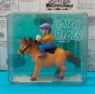 【震撼精品百貨】日本版玩具~發條騎馬玩具-紫帽#99040