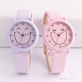 韓版潮流簡約可愛兒童手錶女孩男孩石英錶防水中小學生女童電子錶 小確幸
