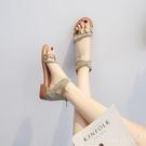 涼鞋女2020年新款夏季百搭學生仙女風配裙子的涼鞋平底夏天羅馬鞋 KP339【Pink 中大尺碼】