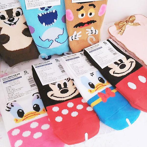 韓國迪士尼米奇米妮黛絲唐老鴨毛怪奇奇蛋頭先生兒童襪子短襪604845通販屋
