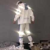 外套男韓版潮流兩件套秋冬帥氣夾克運動套裝【左岸男裝】