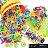 積木 水管道積木塑料拼裝插4-7益智1-2-3-6周歲女男孩寶兒童幼兒園玩具教具