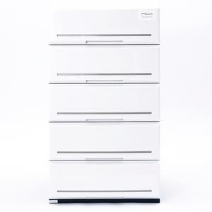 日本 SHINWA 五層收納櫃 寬52公分 白色