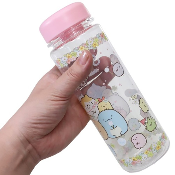 【角落生物 冷水壺】角落生物 冷水壺 冷水瓶 500ml 輕便 粉 貓咪系列 小夥伴 日本正版 該該貝比