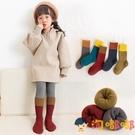 兒童襪子秋冬季純棉毛圈毛巾襪女童堆堆男童中長筒襪【淘嘟嘟】