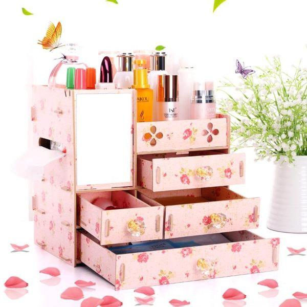 週年慶優惠-創意桌面 化妝品收納盒 抽屜式