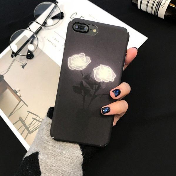 [24hr-現貨快出] 韓風簡約素雅玫瑰蘋果6手機殼iPhone7/6s/plus磨砂全包硬殼女款