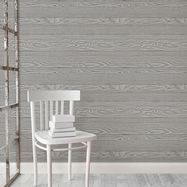 美國製自黏浴室壁紙仿木紋壁貼浴室貼紙無痕壁貼灰色木紋 壁紙屋本舖
