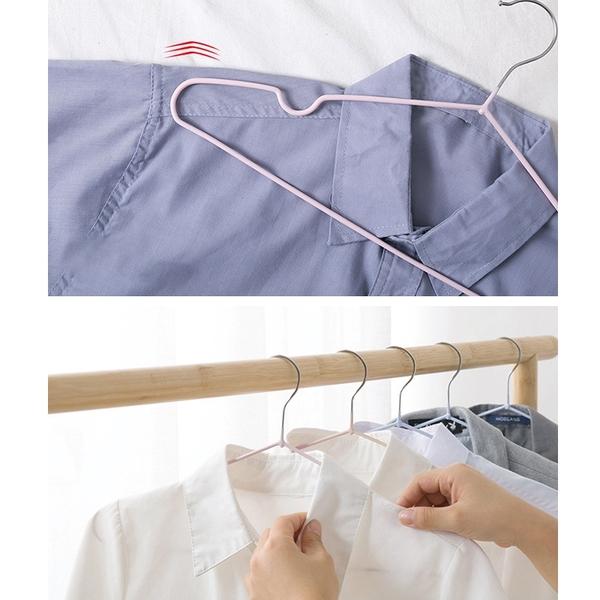 台灣現貨 包膠 防滑衣架 防滑設計 衣架 曬衣架 晾衣架 不鏽鋼衣架 掛衣架 成人衣架 居家生活