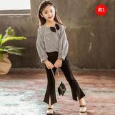 雙11秒殺★女童秋裝套裝新款韓版時髦潮衣9歲5一6-7女孩8洋氣襯衫牛仔褲