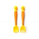 黃色小鴨 可彎曲造型湯叉組 學習餐具 6...