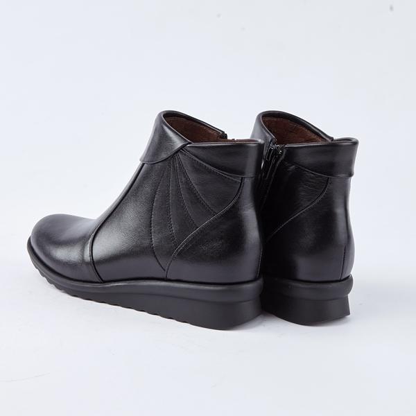 itabella.真皮革百搭短靴(8767-90黑色)