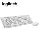 Logitech羅技 MK295 無線靜音鍵鼠組 (珍珠白)