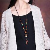民族風項鏈百搭掛飾掛件衣服配飾菩提吊墜裝飾品長款復古毛衣鏈女