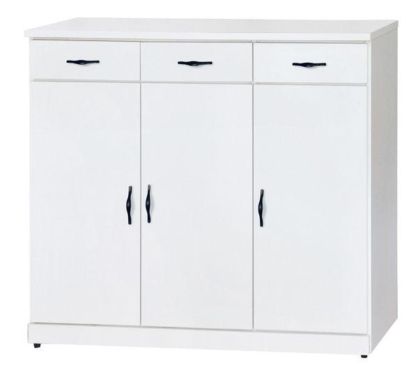 【南洋風休閒傢俱】組合櫃系列 -實木玄關櫃 收納  純白色4尺鞋櫃  KH304-5
