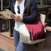 購物袋大容量可折疊便攜環保旅行大號單間手提超市買菜包帆布女開學季,88折下殺