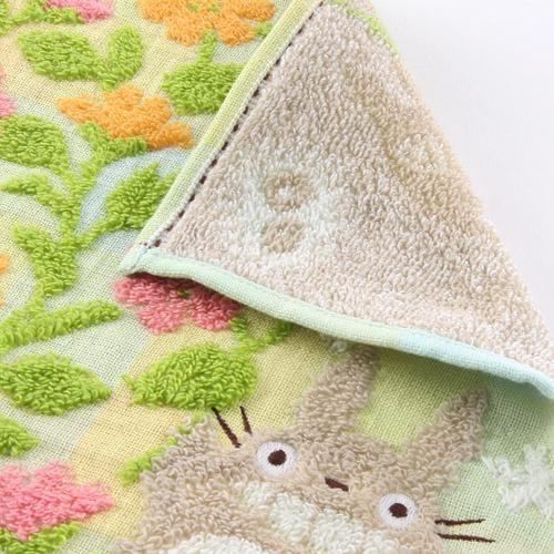 龍貓 TOTORO 日本製 超舒服棉質小方巾/小手帕/擦手巾 該該貝比日本精品 ☆