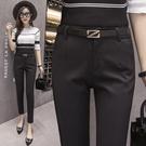 西裝褲 黑色九分西褲女秋季薄款好康推薦新款休閒職業西裝小腳顯瘦工作長褲夏